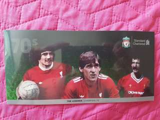 LIVERPOOL FC (The Legends) collectable NETS cashcard set.