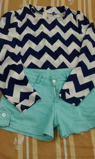 Bundle top and shorts