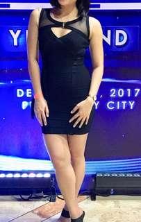 Sexy bodycon black dress (Pre-Loved)