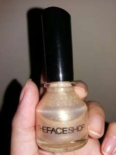 Gold Glitters Nail Colour The Face Shop