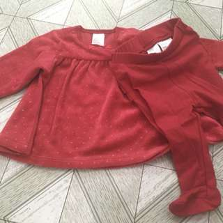 H&M baby girl set clothes