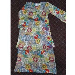 Baju Kurung Budak Kanak-kanak Perempuan 5-6 Tahun