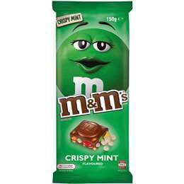 M&M's Crispy Mint Chocolate Block 150g