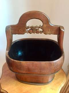 Large Antique Food Carrier