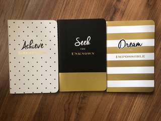 Eccolo Set of 3 Lined Journals