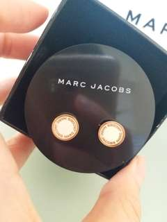 Marc Jacobs白色圓形耳環
