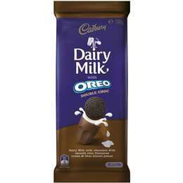 Cadbury Dairy Milk with Oreo Double Choc 180g