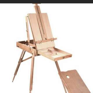 Art box french outdoor Easel all wood