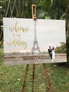 Wedding Entrance Signboard Venue Deco
