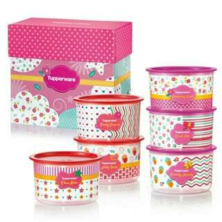 Tupperware Blushing Pink One Touch Set with Box