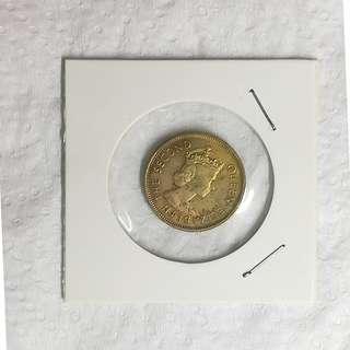 香港 1980年 一毫 10 cents 女皇