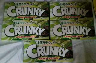 LOTTE Crunky Matcha and Cookie