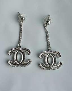 *50% OFF SALE!* New Chanel CC Drop Earrings Silver