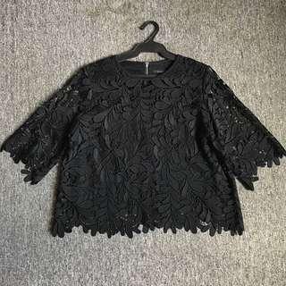 Marks & Spencer Autograph black Lace top