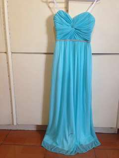 FREE SHIPPING: Light Turquoise Long Gown