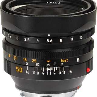 Leica 50mm f1 noctilux v4