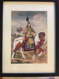 Framed of The Qianlong Emperor in Ceremonial Armour on Horseback