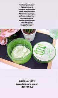 NATURE REPUBLIC ALOE VERA GEL ORI 100%