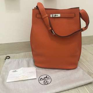 Hermes So-Kelly Togo Leather in Orange
