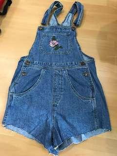 Cotton on denim overalls