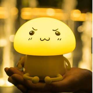 LED Bed Night Light Warming Effect Qboy Emoji Cute Design Silicone Touch