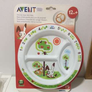 Philips Avent - Divider Plate & cutlery set 12m+ (NEW)