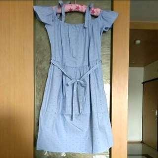 降價囉~(含運)全新Esprit藍白條紋洋裝