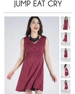 Jump eat cry Issa Love Nursing Dress