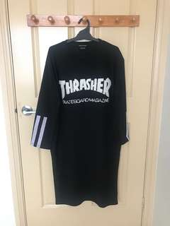 Thrasher sweater midi dress