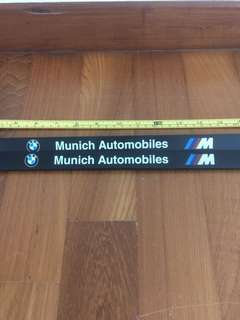 Authentic Bmw///M ABS License Plate Holder