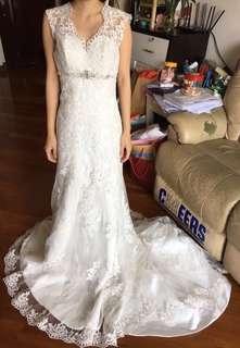 Lace 拖尾魚尾婚紗
