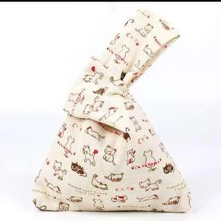 Japanese Inspired Cloth Wristlet