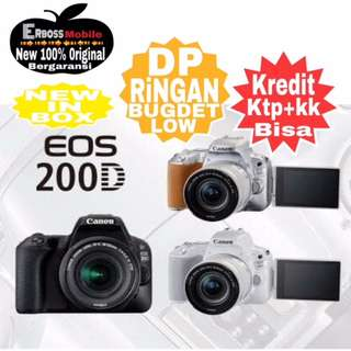 Kredit Low Dp Canon EOS 200D Kit 18-55mm Resmi ditoko Promo ktp+kk wa;081905288895