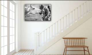 Indian Native American abstract home decor wall quality canvas print art..