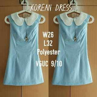 Powder blue mini dress