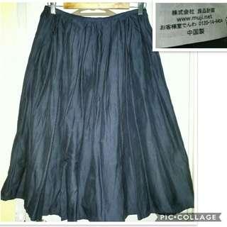 Muji cotton midi skirt