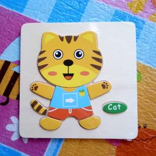 (BNEW) Cat Wooden Puzzle