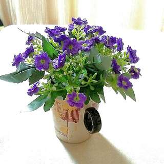 Brand New Artificial Flower Arrangement with Cup from Taiwan