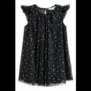 H&M Glittery Star Tulle dress