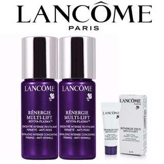 Lancome Renergie Multi-Lift Reviva-Plasma 10ml + 10ml And Get Free Lancome Eye Cream 3ml