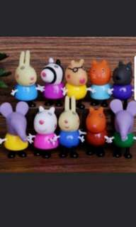 Peppa pig's friends toy figurine for cake/car deco