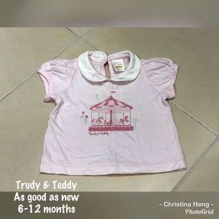 Trudy & Teddy Girl's TOP
