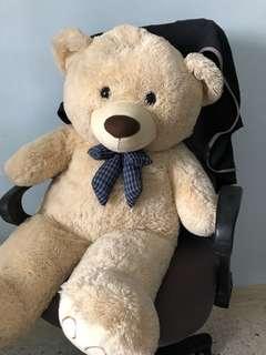 100CM Cream Coloured Teddy Bear
