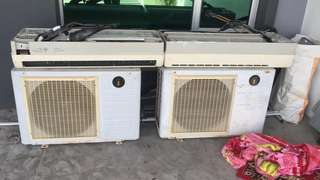 Aircond secondhand 2HP x 2 unit