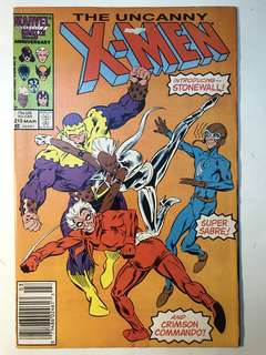 Uncanny X-Men # 215 (slight tear on the cover)