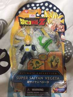 Dragonball Z Super Saiyan Vegeta Action Figure W/ 2 Shenron Pieces Bandai 29500