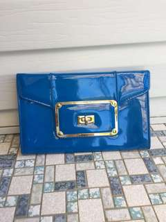 Stunning blue clutch purse from Colette