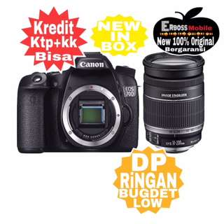 Kredit Low Dp Canon EOS 70D Kit18-200mm Resmi ditoko ktp+kk bisa wa;081905288895