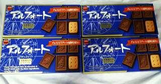 BOURBON Alfort Chocolate Cookie Original Blue