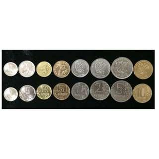 RUSSIA SET 8 COINS 1 5 10 50 KOPEKS 1 2 5 10 ROUBLE 2007-2017 UNC